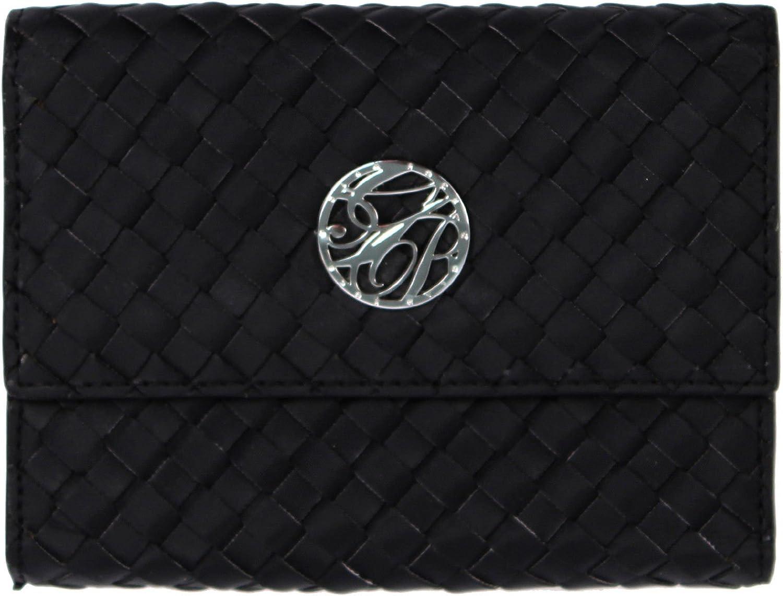 Glam Rock Black Hand Braided Techno Silk Ladies Wallet RWL00101 SM