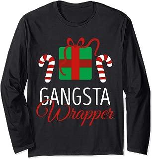 Funny Christmas Pajama Gangsta Wrapper Christmas Long Sleeve T-Shirt