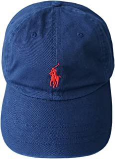(ポロ ラルフローレン)POLO Ralph Lauren キャップ CAP 帽子 ハット メンズ レディース PONY ポニー ワンポイント ネイビー×レッド - [並行輸入品]