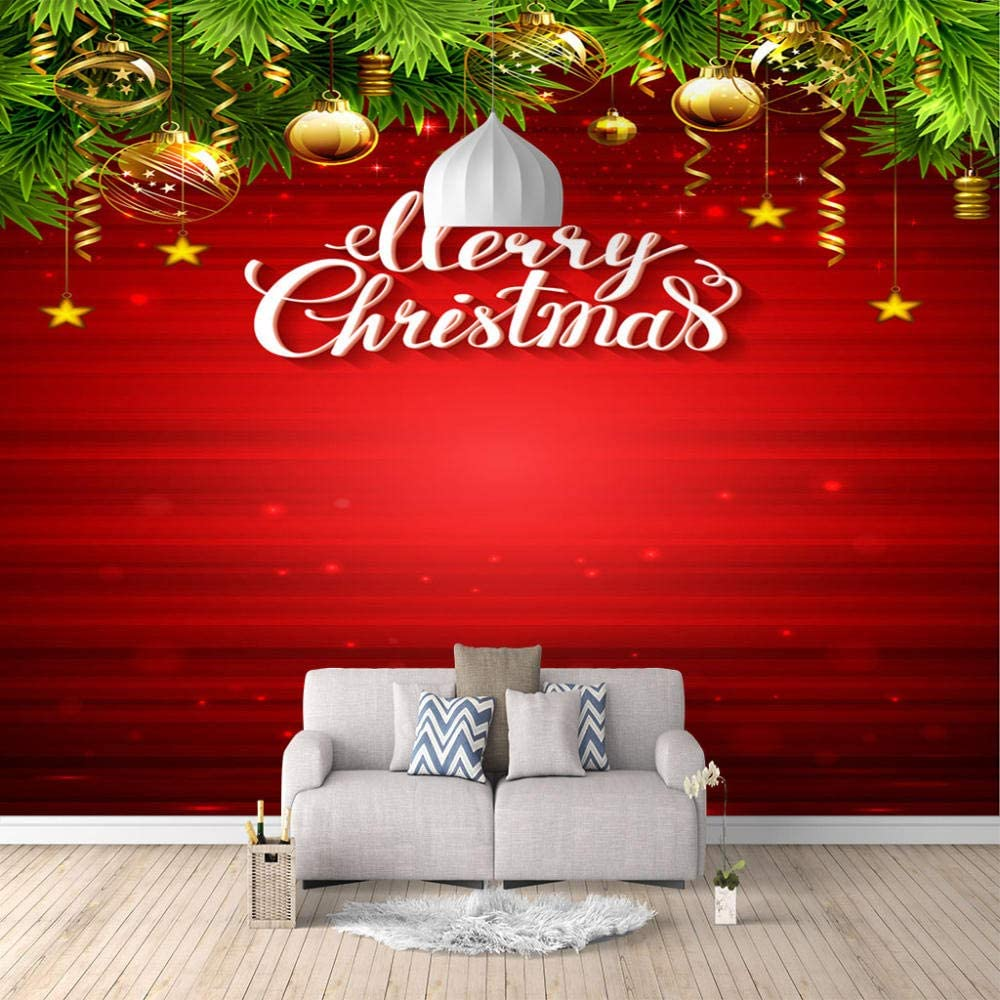 Now free shipping ZXDHNS Photo Wallpaper Free shipping anywhere in the nation - Removable Wall Christmas Mural Hangin