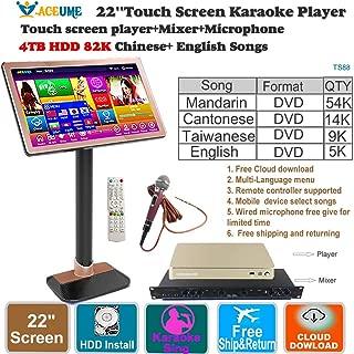4TB HDD 87K Songs,Chinese,Englis Touch Screen Karaoke Player,Free Cloud Download,Multi-Language Menu,Home KTV Sing,Mixer,Wired Microphone.22'' 觸摸屏,卡拉OK播放器,國語,粵語,台語,英語,混音器,麥克風