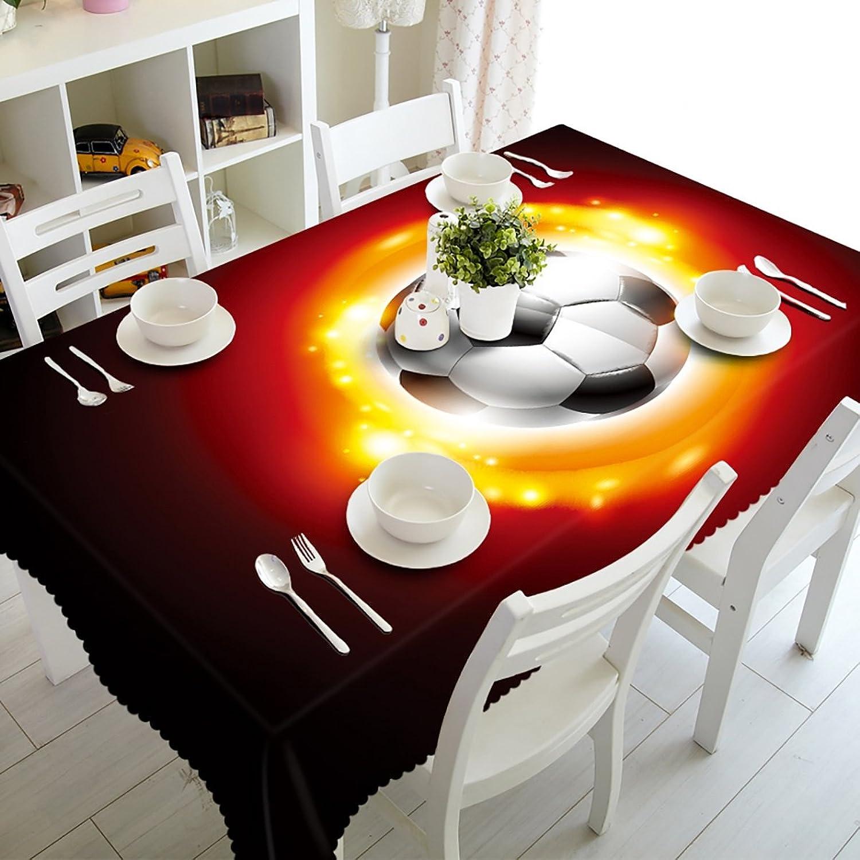 HUANZI Tischdecken 100% Polyester Rechteckig, Hochzeit, Weihnachtsfeier Thanksgiving World Cup Fuball Muster Tischdecken, Rectangle - Wide 178cmx Long 274cm