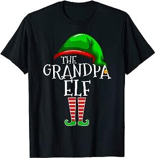 Grandpa Elf Family Matching Group Christmas Gift Men Funny T-Shirt