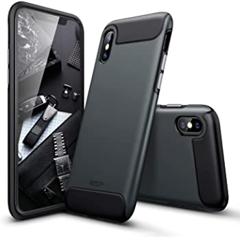 ESR Rambler Rugged Heavy-Duty Case for iPhone X, Bumper Armor Case 360 Protective Shock-Absorbing Cover, Hard PC Back with Flexible TPU Bumper Case for iPhone X, Black