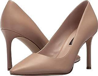 Women's Emmala Leather Pump, Tan, Size 9.5