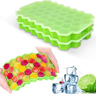 2 Pack Ice Cube Trays with Lids