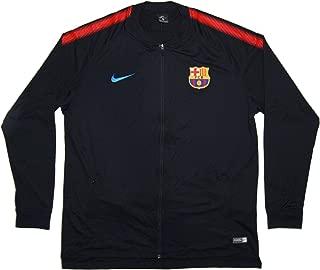 Men's Official 2017-2018 FC Barcelona Dry Squad Jacket 854341-011 Black