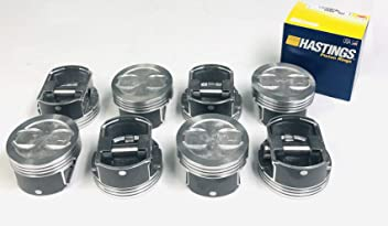 Speed Pro Hypereutectic Coated Skirt Dish Pistons+CAST Rings compatible with 1968-90 Chevy GMC 350 5.7L +.060 or 4.060 Bore