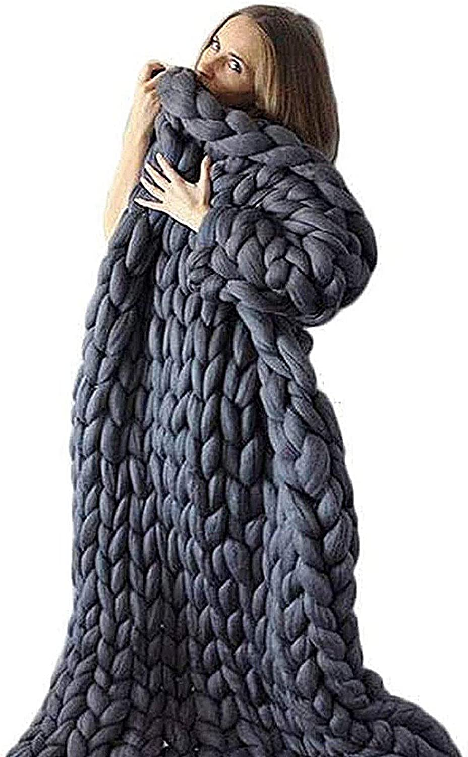 ZCXBHD Genuine Limited Special Price Hand Knitted Yarn Throw Chunky Conditioning Air B Blanket