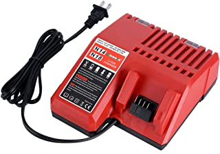 Replacement Lithium-ion Battery Charger Multi Voltage Charger for Milwaukee M18 14.4V-18V 48-11-1850 48-11-1840 48-11-1815 48-11-1828