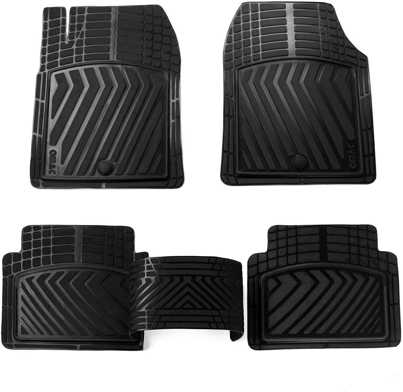 OMAC All New Free Shipping Weather Performance 3D Protection Mat Floor Rubber Set store