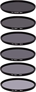 ICE 58mm 6 ND Filter Set Slim ND1000 ND64 ND32 ND16 ND8 ND4 Neutral Density 10, 6, 5, 4, 3, 2 Stop Optical Glass 58