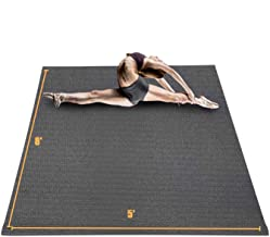 Sponsored Ad - HYD-Parts Large Exercise Mat for Home Workout 8'x5'x7mm, Non-Slip Durable Gym Flooring Mats for Cardio Fitness
