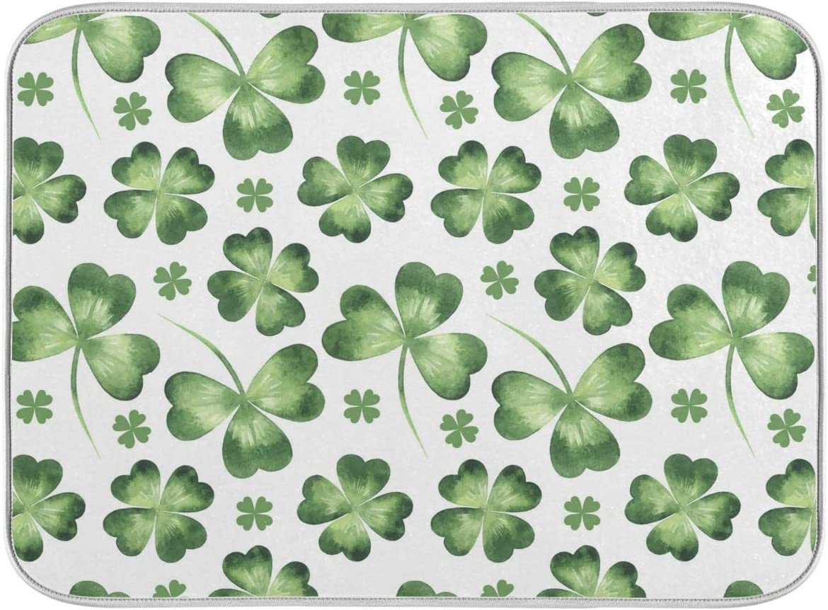 Ranking TOP11 St Patrick's Day Clover Dish Drying Ranking TOP10 Green Kitchen for Mat 16x18