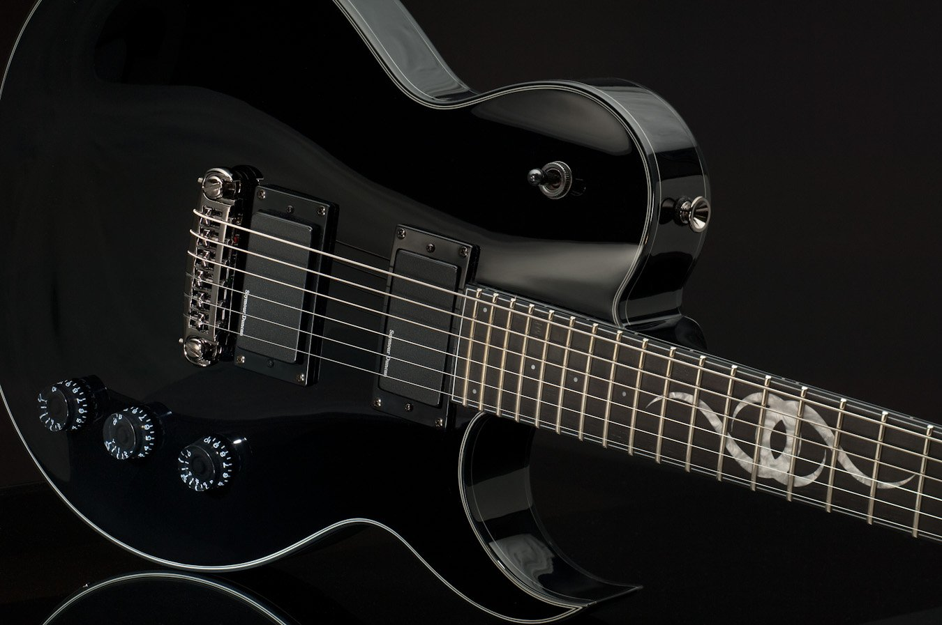 Cheap Ethan Hart Guitar EH-1 Black Single Cutaway with White Binding Black Friday & Cyber Monday 2019