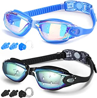 COOLOO Swim Goggles Men, 2 Pack Swimming Goggles for...