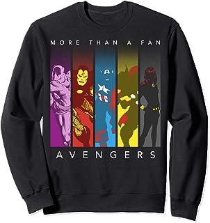 Marvel Avengers More Than A Fan Colorful Panel Silhouette Sweatshirt
