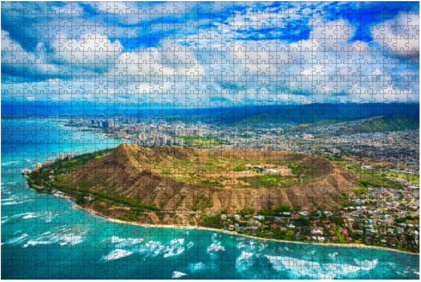 Aerial of Honolulu Hawaii Beyond Diamond Head Stock Outlet ☆ Free Shipping 1 Water Ranking TOP8 City