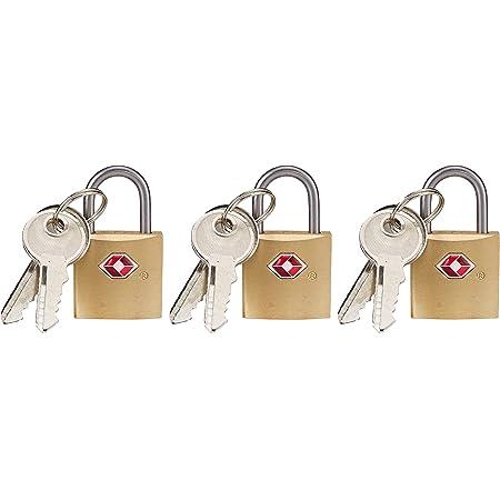 Longitud a elegir 40 mm candado Set con 4 unidades de llave para seguro tambi/én exterior 3,5 x 28 x 14 mm cadena de acero 0,5 metros hasta 5 metros