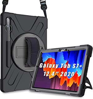 """ProCase Galaxy Tab S7 Plus 12.4"""" 2020 Case with S Pen Holder (Model SM-T970/T975/T976/T978), Rugged Heavy Duty Shockproof ..."""