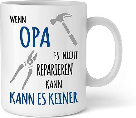 Tasse Geschenk für Opa I Wenn Opa es nicht reparieren kann I Geburtstag Weihnachten Geschenkidee für Opa I Schöne Kaffee-Tasse von Shirtinator preisvergleich bei geschirr-verleih.eu