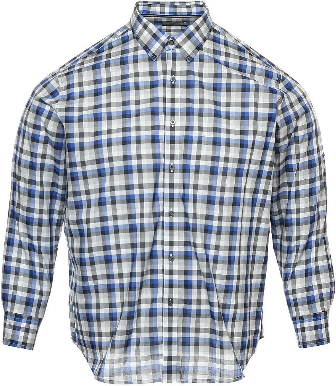 Alfani Men's Blue Plaid Button Down Shirt