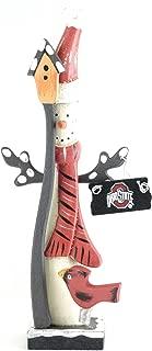 Hanna's Handiworks Ohio State Buckeyes Snowman Figurine (Santa Hat)