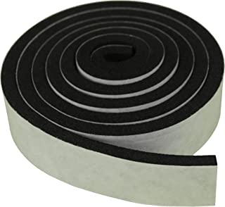 XCEL - Weather Stripping Foam Rubber Tape with Adhesive, 3 Strips Size 52 inch x 1 Inch x 1/4 Inch
