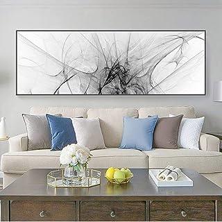 Yooyu Peinture sur Toile Art Abstrait Affiches et Impressions Art Mural Noir et Blanc Encre Ligne Photos pour Salon décor ...