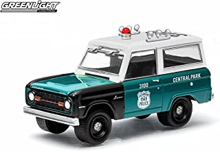 1967 FORD BRONCO / CENTRAL PARK POLICE - NEW YORK CITY, NEW YORK * 2015 Hot Pursuit Series 15 * Greenlight Collectibles 1:64 Scale Limited Edition NYPD Die-Cast Vehicle