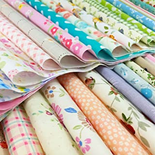 flic-flac Quilting Fabric Squares 100% Cotton Precut Quilt Sewing Floral Fabrics for Craft DIY (6 x 6 inches, 120pcs)