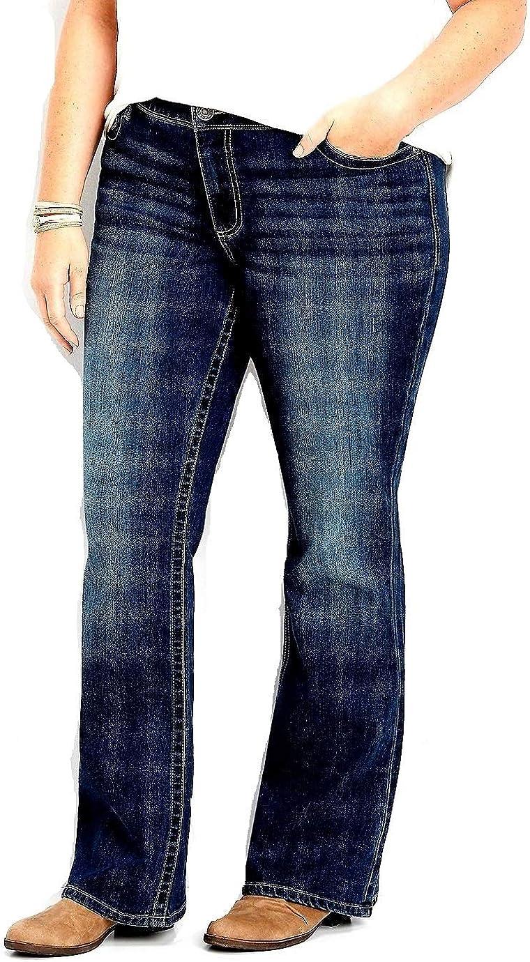 maurices Women's Plus Size Denimflex TM Dark Wash Bootcut Jean