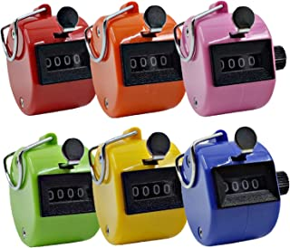 ZERONOWA 数取器 手持ち型 カウンター 数量カウント 4桁 軽量 コンパクト (6個セット)
