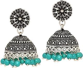 Jaipur Mart Jhumki Earrings for Women (Golden) (GSE676BT)
