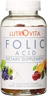 Lutrovita Folic Acid Gummy, Assorted, 200 Count