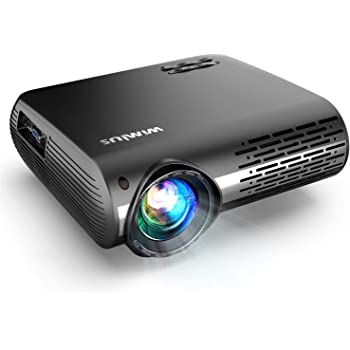 Native 1080P Projector, WiMiUS Upgrade 7000 Lumens Projector Support 4K 200'' Display, 4D ±50° Keystone Correction, Zoom Function Compatible with TV Stick, PC, Smartphone for Indoor and Outdoor Movie