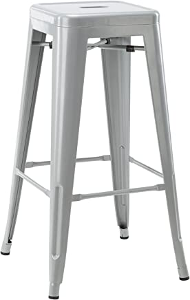 featured product Hodedah 30 Counter Height Metal Bar Stool,  Indoor/Outroom Use,  Grey
