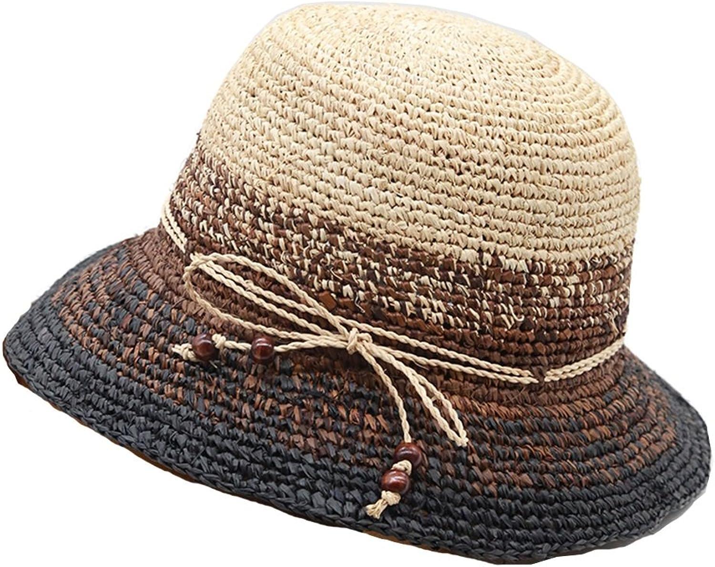 Chunlan Sun Hat Seaside Female Summer Hat Visor Beach Hat (color   A)