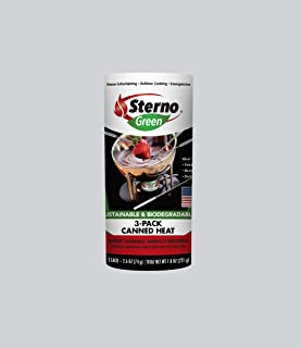 Sterno 20602 Entertainment Cooking Fuel, 3-Pack Canned Heat, 2.6 oz.
