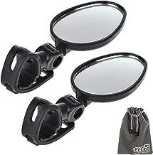EEEKit 2 Packs Bundle Universal Mini Rotaty Rearview Handlebar Glass Mirror for Mountain Road Bike Cycling Bicycle