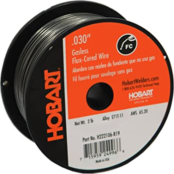 Hobart H222106-R19 2-Pound E71T-11 Carbon-Steel Flux-Cored Welding Wire, 0.030-Inch