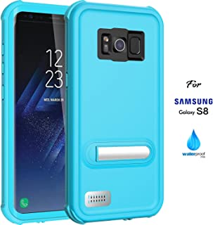 ASAKUKI Galaxy S8 Waterproof Case - IP68 Certified Case, Full Body Protective, Shockproof, Scratch-Proof, Dustproof Case with Built-in Screen Protector for Samsung Galaxy S8 - Light Blue