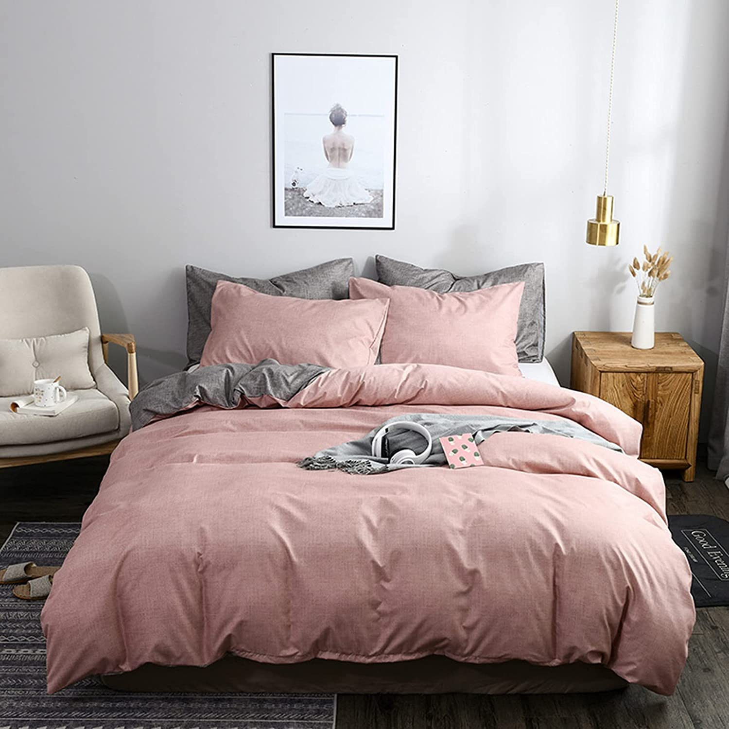 NNKI Fashionable Modern Style Discount mail order Bedding Set Cov Cocoa Duvet Color Max 84% OFF