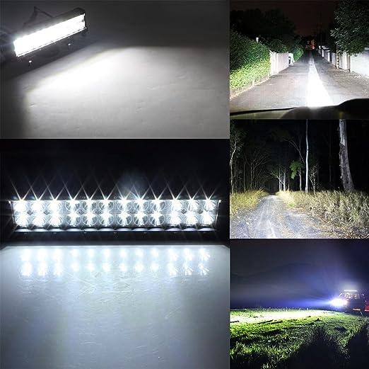 ALPHA DIMA 10pcs 36W Projecteur Phare de Travail LED 6000K Imperm/éable IP67 Projecteur Voiture Chantier Eclairage Rampe Phare pour V/éhicule Camion SUV Bateau Chantier Tracteur Agricole Remorque