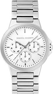 Rebecca Minkoff Women's Quartz Watch with Stainless Steel Strap, Silver, 20 (Model: 2200356)