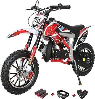 X-Pro Bolt 50cc Dirt Bike Gas Dirt Bike Kids Dirt Bikes Pit Bikes Youth Dirt Pitbike 50cc Mini Dirt Bike with Gloves, Goggle and Handgrip