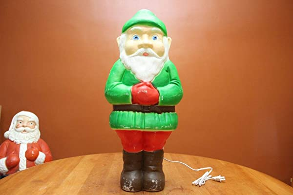 Vintage Union Products Don Featherstone Lighted Blow Mold 28 Christmas Elf GUC