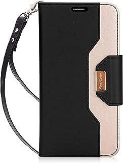 ProCase Wallet Case for LG V30, Folio Folding Flip Protective Case for LG V30 / LG V30 Plus/LG V35 / LG V35 ThinQ (2017), LG V30S ThinQ(2018) with Card Holder Kickstand -Black