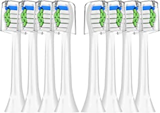Dr.MollyCare Toothbrush Heads Replacement (8 Pack) for Sonicare-DiamondClean Toothbrush, Brush Heads Replacement for Philips Sonicare 2 Series and ProtectiveClean 5100