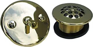 Simpatico 34851P Bath Tub Trip Lever Plate with Screws, 1-1/4